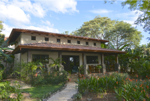Back facade of home on lot #8 in Tierra Pacifica, Costa Rica